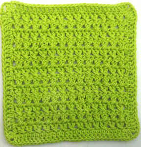 30 Cross Stitch Crochet Dishcloth