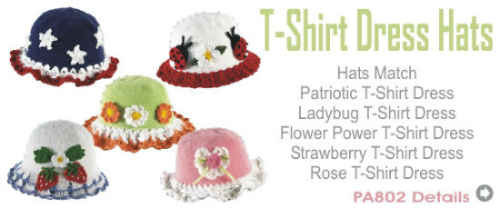 PA800--t-shirt-dress-hats-crochet-pattern