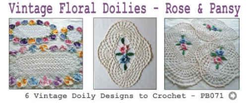 PB071-Vintage-Crochet-Floral-Doilies-Rose-Pansy