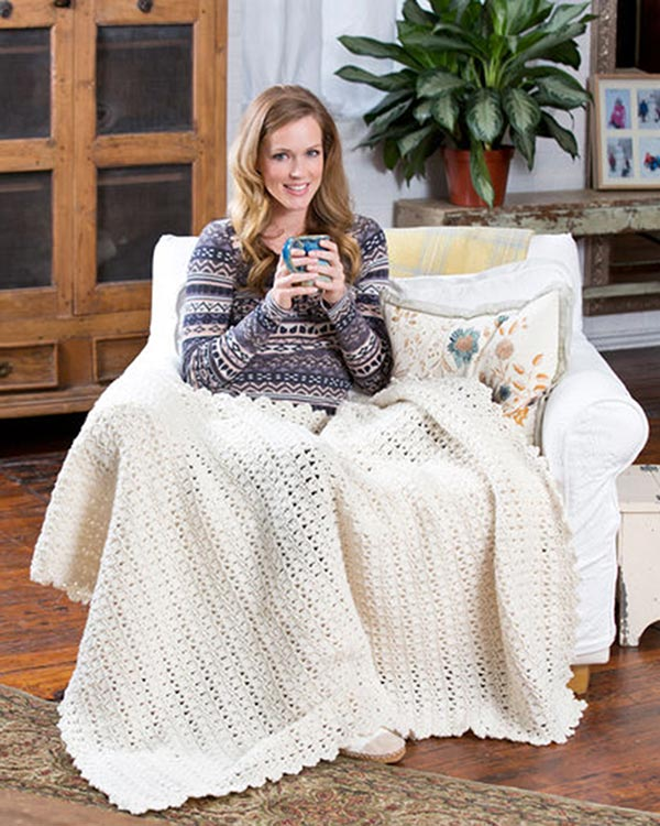 Free Snowbound Throw Crochet Pattern from RedHeart com