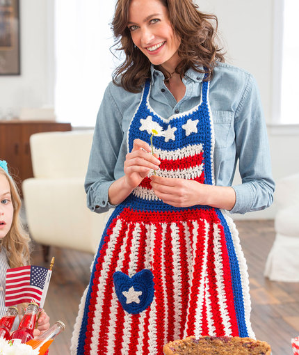 Betsy Ross Patriotic Apron