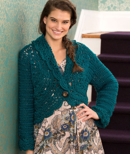 buttoned lace cardigan