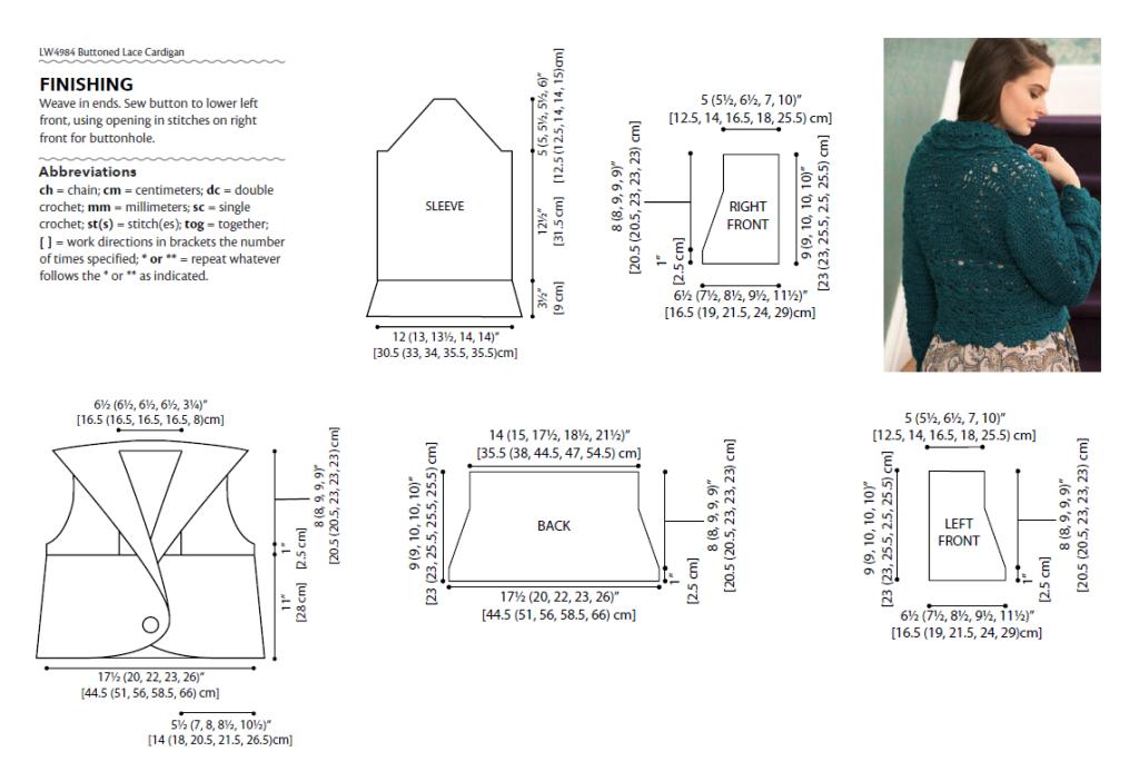cardigan chart