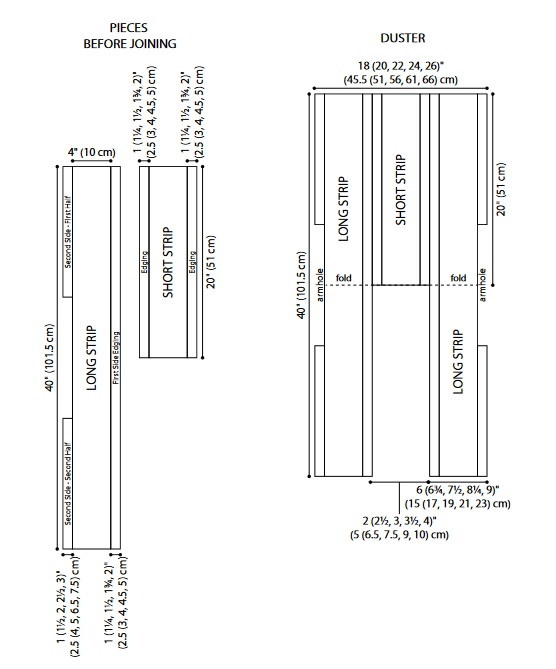 fashion forward duster chart