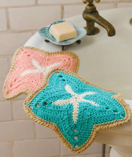 starfish dishcloths