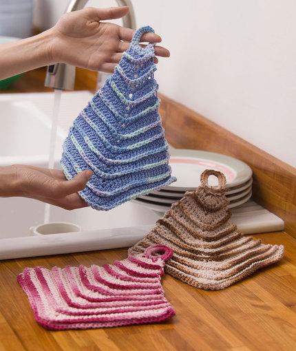 mitered dishcloths