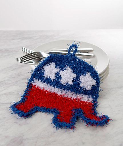 patriotic elephant scrubby